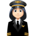 👩🏻‍✈️ woman pilot: light skin tone Emoji on Facebook Platform
