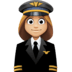👩🏼‍✈️ woman pilot: medium-light skin tone Emoji on Facebook Platform