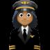 👩🏾✈️ woman pilot: medium-dark skin tone Emoji on Facebook Platform