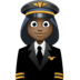👩🏿‍✈️ woman pilot: dark skin tone Emoji on Facebook Platform