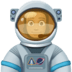 👨🏾‍🚀 man astronaut: medium-dark skin tone Emoji on Facebook Platform
