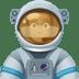 👨🏿🚀 man astronaut: dark skin tone Emoji on Facebook Platform