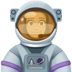 👩🏼‍🚀 woman astronaut: medium-light skin tone Emoji on Facebook Platform