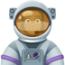 👩🏿‍🚀 Dark Skin Tone Female Astronaut Emoji on Facebook Platform