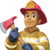 👨🏽‍🚒 man firefighter: medium skin tone Emoji on Facebook Platform