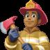 👨🏾🚒 man firefighter: medium-dark skin tone Emoji on Facebook Platform