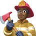 👨🏿‍🚒 man firefighter: dark skin tone Emoji on Facebook Platform