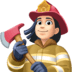 👩🏻‍🚒 woman firefighter: light skin tone Emoji on Facebook Platform