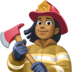 👩🏾‍🚒 Medium Dark Skin Tone Female Firefighter Emoji on Facebook Platform