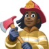 👩🏿‍🚒 woman firefighter: dark skin tone Emoji on Facebook Platform