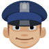 👮🏼 Medium Light Skin Tone Police Officer Emoji on Facebook Platform