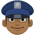 👮🏾 police officer: medium-dark skin tone Emoji on Facebook Platform