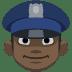 👮🏿 police officer: dark skin tone Emoji on Facebook Platform