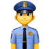 👮‍♂️ man police officer Emoji on Facebook Platform