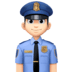 👮🏻‍♂️ man police officer: light skin tone Emoji on Facebook Platform
