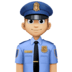👮🏼‍♂️ man police officer: medium-light skin tone Emoji on Facebook Platform