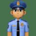 👮🏽♂️ man police officer: medium skin tone Emoji on Facebook Platform