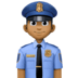 👮🏾‍♂️ man police officer: medium-dark skin tone Emoji on Facebook Platform