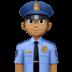 👮🏾♂️ man police officer: medium-dark skin tone Emoji on Facebook Platform