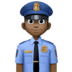 👮🏿‍♂️ man police officer: dark skin tone Emoji on Facebook Platform