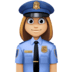 👮🏼‍♀️ woman police officer: medium-light skin tone Emoji on Facebook Platform