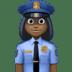 👮🏿♀️ woman police officer: dark skin tone Emoji on Facebook Platform