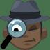 🕵🏿 detective: dark skin tone Emoji on Facebook Platform