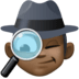 🕵🏿‍♂️ man detective: dark skin tone Emoji on Facebook Platform