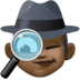 🕵🏿‍♀️ woman detective: dark skin tone Emoji on Facebook Platform
