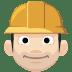 👷🏻 construction worker: light skin tone Emoji on Facebook Platform