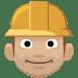 👷🏼 construction worker: medium-light skin tone Emoji on Facebook Platform