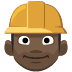 👷🏿 construction worker: dark skin tone Emoji on Facebook Platform