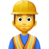 👷‍♂️ man construction worker Emoji on Facebook Platform