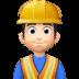 👷🏻♂️ man construction worker: light skin tone Emoji on Facebook Platform
