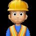 👷🏼♂️ Medium Light Skin Tone Male Construction Worker Emoji on Facebook Platform
