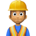 👷🏽‍♂️ man construction worker: medium skin tone Emoji on Facebook Platform