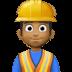 👷🏾♂️ man construction worker: medium-dark skin tone Emoji on Facebook Platform