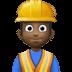 👷🏿♂️ Dark Skin Tone Male Construction Worker Emoji on Facebook Platform