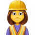 👷‍♀️ woman construction worker Emoji on Facebook Platform