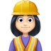 👷🏻‍♀️ woman construction worker: light skin tone Emoji on Facebook Platform