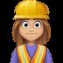 👷🏼♀️ woman construction worker: medium-light skin tone Emoji on Facebook Platform