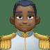 🤴🏿 prince: dark skin tone Emoji on Facebook Platform