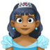 👸🏾 princess: medium-dark skin tone Emoji on Facebook Platform