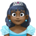👸🏿 princess: dark skin tone Emoji on Facebook Platform