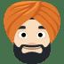 👳🏻 person wearing turban: light skin tone Emoji on Facebook Platform