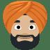 👳🏼 person wearing turban: medium-light skin tone Emoji on Facebook Platform