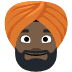 👳🏿 person wearing turban: dark skin tone Emoji on Facebook Platform