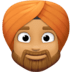 👳🏽‍♂️ man wearing turban: medium skin tone Emoji on Facebook Platform