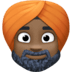 👳🏿‍♂️ man wearing turban: dark skin tone Emoji on Facebook Platform