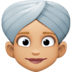 👳🏼‍♀️ woman wearing turban: medium-light skin tone Emoji on Facebook Platform